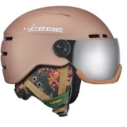 Kask narciarski Cebe Fireball Matt Champagne Flower Grey Flash Mirror Cat. 3 + Yellow Flash Mirror Cat. 1