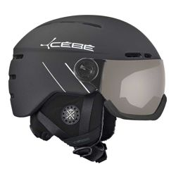 Cébé Kask narciarski Fireball Matt Black White Line PC Vario Perfo Grey Cat. 1-3