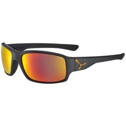 Sportowe okulary przeciwsłoneczne CEBE Haka Matt Black Rubber Finish Orange 1500 Grey PC Red Flash Mirror Cat.3