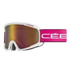 Gogle narciarskie Cebe Fanatic M Matt White Cranberry Light Rose Flash Gold Cat. 2