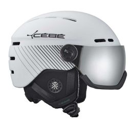 Kask narciarski Cebe Fireball Matt Black White Black Line Grey Flash Mirror Cat. 3 + Yellow Flash Mirror Cat. 1