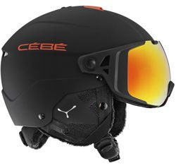 Kask narciarski CEBE Element Visor Matt Black Red Cat.1,3