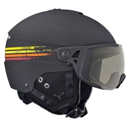 Kask narciarski Cebe Element Visor Matt Black Racing Lines NXT Vario Perfo Amber Flash Mirror Cat. 1-3