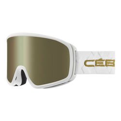 Cébé Gogle narciarskie STRIKER Evo Matt White Gold Dark Rose Flash Gold Cat.3