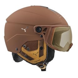 Cébé Kask narciarski Element Visor Matt Brown Chrome NXT Vario Perfo Amber Flash Mirror Cat. 1-3